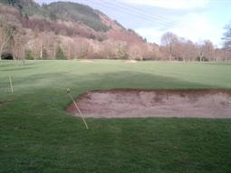golf course view to Gwydyr Forest